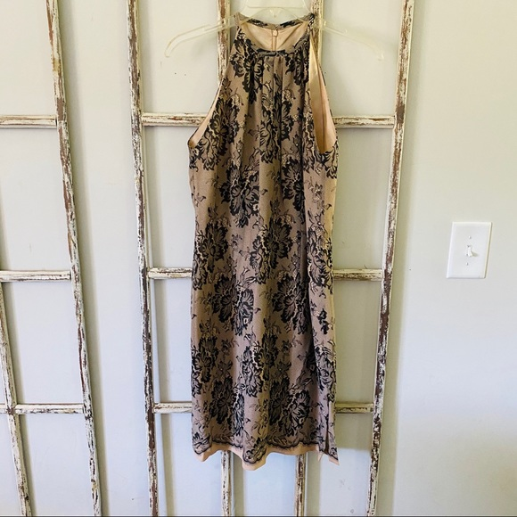 Maggy London 100% Silk Lace Printed Cocktail Dress